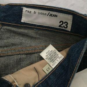rag & bone Jeans - RAG & BONE 2-Tone Crop Wallingford Jeans